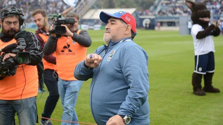 emotivo mensaje de Maradona a Gimnasia