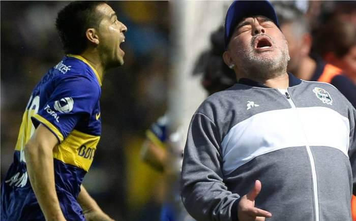 Riquelme le contestó a Maradona
