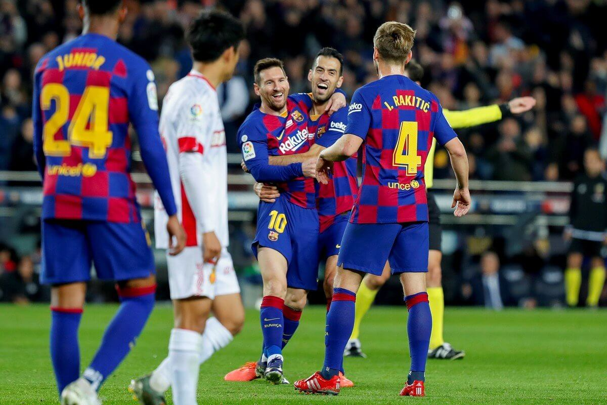 Hat trick Messi Barcelona Suárez Mallorca