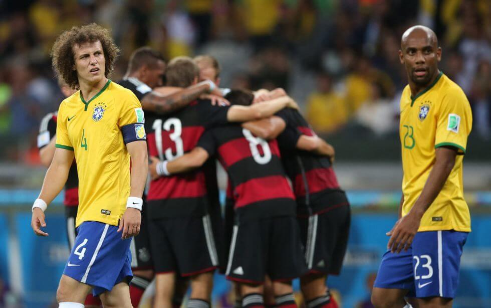 David Luiz Brasil Alemania 7 a 1