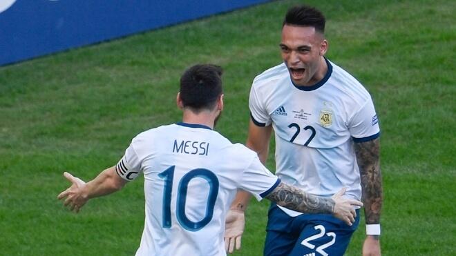 Scaloni Lautaro Martínez Messi